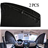 ZATOOTO Car Side Window Sunshades 2 pcs - Baby Front Side Window Sun Shade Magnetic Privacy Curtain Keeps Cooler for Kids Sleeping Sun UV Rays and Glare Protection for Your Child (WZ-Front)