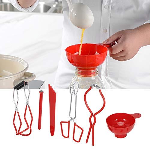 Socobeta Jar Lifter Abrazadera de enlatado fácil de usar para la cocina para botellas (rojo)