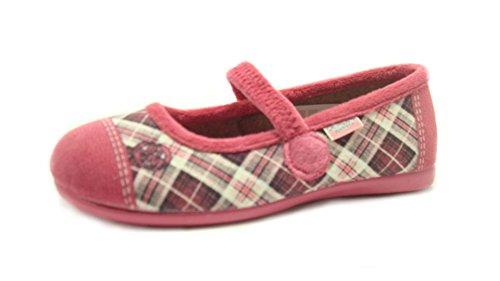 GRÜNLAND junior , Mädchen Hausschuhe Pink Fuchsia -, Pink - Fuchsia - Größe: 34