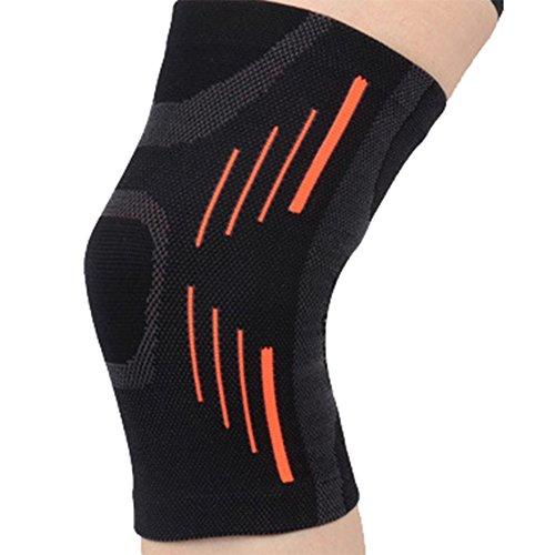 Demarkt 1PC rutschfeste Kniebandage elastisch Knieschoner für Damen und Herren beim Sport Fitness Joggen Radfahren Skifahren und Alltag (XL)