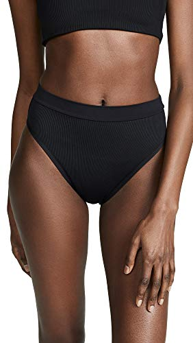 LSpace Women's Frenchi High Waist Bikini Bottoms, Black, Large