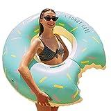 Flamingueo Flotador Gigante Donut - Colchoneta Piscina Donut, Colchoneta Hinchable Donut, Flotador Gigante, Flotador Adulto, Colchoneta Piscina, Hinchables para Piscina, Colchoneta Donut, 120x120 cm