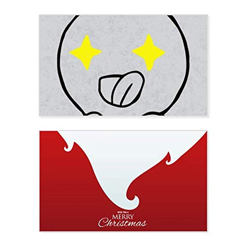 Ogen sturen Forth zwarte Emoji vakantie vrolijke kerstkaart Kerstmis Vintage bericht
