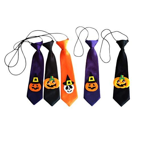 iplusmile Hundekostüm, Haustier-Halloween-Kostüm, 5 Stück, für Halloween, Urlaub, Dekoration, Haustier, Katze, Hund, Krawatte, lose Halsband, schöne Krawatte