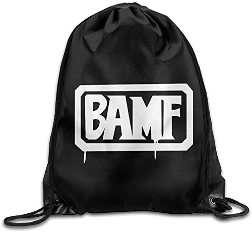 HRTSHRTE McCree BAMF Over First-Person Shooter Video Game Watch Drawstring Bags Hiking White Backpack Sport Bag for Men & Women School Travel Backpack for Teens College