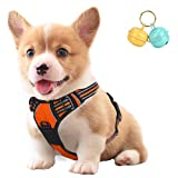 No Pull Dog Vest Harness Front Clip with Handle, Reflective Easy Control Outdoor
