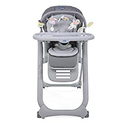 Suitable from birth: it can be used as baby bouncer (0m+), highchair (6m+) or chair to the table (6m+) Double mini reducer to ensure maximum comfort to your baby during summer and winter Rich toy bar to entertain and stimulate your bay Versatile: 8 h...