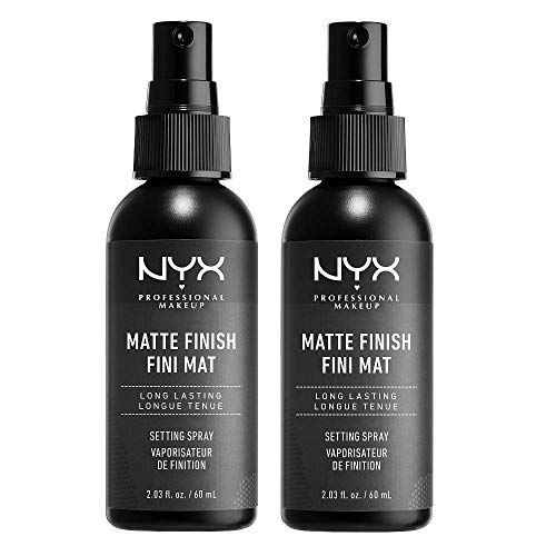 NYX Professional Makeup Setting Spray, Langanhaltende Textur, Fixierendes Spray, Leichte, vegane Formel, Matte Finish, 2-er Pack, 60 ml