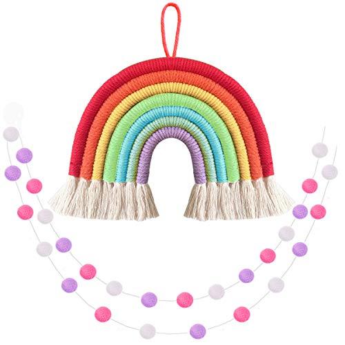 Felt Ball Garland Kids Room Decor Rainbow Felt Ball Garland Rainbow Banner Rainbow Garland Rainbow Decor Rainbow Party decor Garland