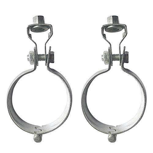 WYKA 3-1/2 Inch Split Ring Hanger Pipe Straps,2 Pack Heavy Duty Iron Galvanized Universal Hinge Lantern Hoops Ceiling Mount Pipe Supports Adjustable Bracket Pipe Clamp 89mm DIA