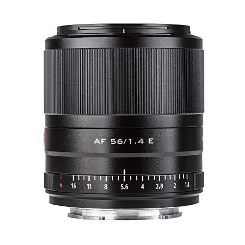 Viltrox Kamera-Objektive, 56mm F1.4 E Autofokus-Porträtobjektiv, kompatibel mit Sony E-Mount Kameras A5100 A6100 A6400 A6600 A6500 A6300 A6000 NEX-6 A7 A7RIV A7RIII A7III A7RII A7II A7S A7C A9