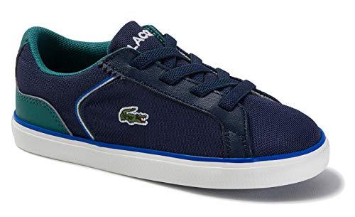 Lacoste Unisex-Baby Lerond 220 1 CUI Sneaker, Navy/Green, 4.5 Medium US Toddler