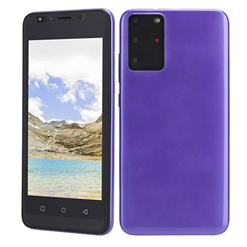 Deansh Teléfono de desbloqueo de Huellas Dactilares, Pantalla de 5.0 Pulgadas, Doble Tarjeta, teléfono de reconocimiento Facial de Doble Modo de Espera con cámara HD, 512 MB + 4 GB(púrpura)