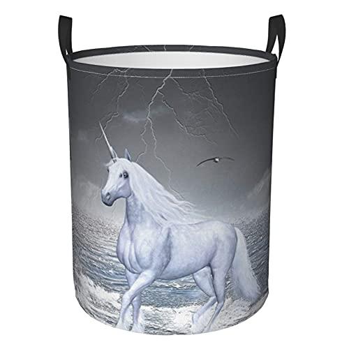 Cesta de lavandería grande plegable para la colada, con tablero de ajedrez con un cubo de unicornio para lavar caballos, impermeable, ligera, para organizador de juguetes