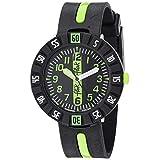 [フリック フラック] 腕時計 Power Time 7+ (パワータイム7+) GREEN AHEAD (グリーン・アヘッド) ZFCSP032 ボーイズ 正規輸入品 ブラック