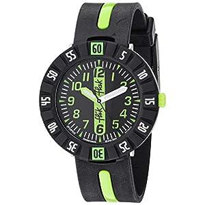 Flik Flak Kids' Quartz Plastic Strap, Black, 16 Casual Watch (Model: ZFCSP032)