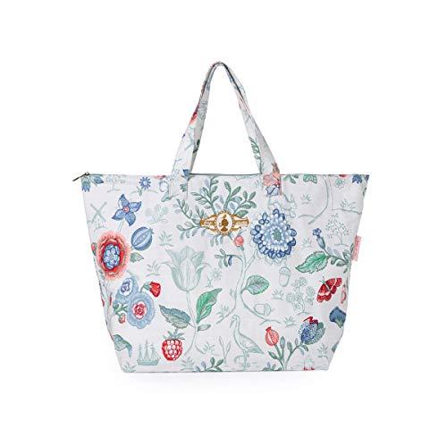 PiP Studio Strandtasche Spring to Life Petit Weiß Blumen Blüten Strand Urlaub