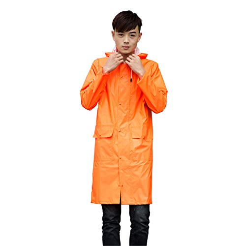 XTLXA Poncho Camping Emergency Poncho with Hood and Sleeves 100% Waterproof Water Proof Coat Light Raincoat (Color : Oranje, Size : M)