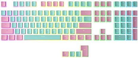 HK Gaming 108 Double Shot PBT Pudding Keycaps Ansi/ISO - OEM Profile Pudding Keyset 60% / 87 TKL / 104/108 MX Switches Backlit black 108_Puding_Black