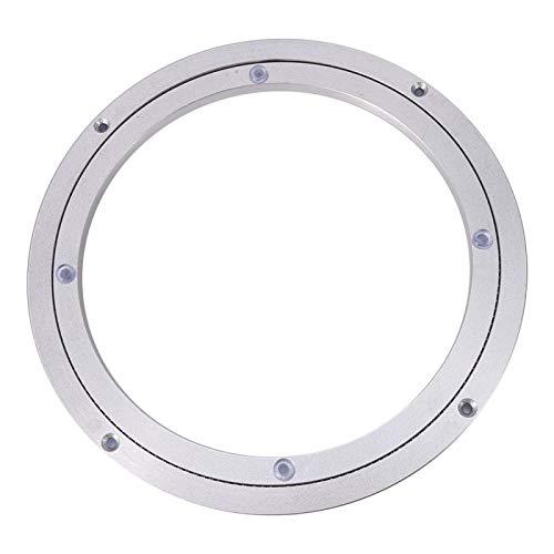 Drehscheibe Drehteller Aluminiumlegierung Silber Glattes Drehteller-Lagerwerkzeug für Dekorationsartikel Display Esstisch Drehplatte TV-Rack Schreibtisch(9.8inch*H8.5MM)