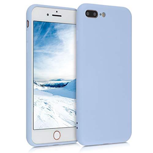 kwmobile Custodia Compatibile con Apple iPhone 7 Plus / 8 Plus - Cover Silicone Gommato - Back Case Protezione Posteriore Cellulare - Blu Chiaro Matt