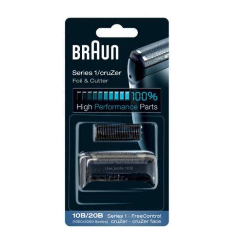 Braun - Combi-pack 10B - Láminas de recambio + portacuchillas para afeitadoras Series 1/FreeControl