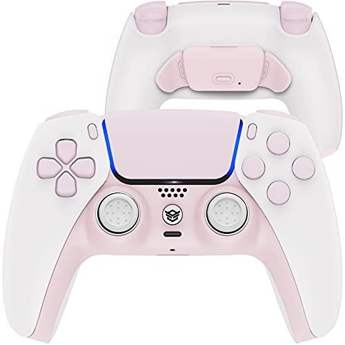 how to set up two factor authentication on ps5 HexGaming Esports Rival Controller 2 Mappable Rear Buttons & Interchangeable Thumbsticks & Hair Trigger for PS5 Controller Custom Controller PC Wireless FPS Gamepad - Cherry Blossoms Pink