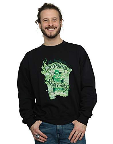 Harry Potter Hombre Floo Powder Camisa De Entrenamiento Negro Medium