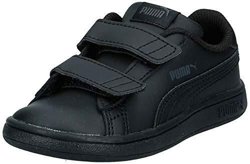 PUMA Unisex Baby Smash v2 L V Inf Sneaker, Black Black, 25 EU