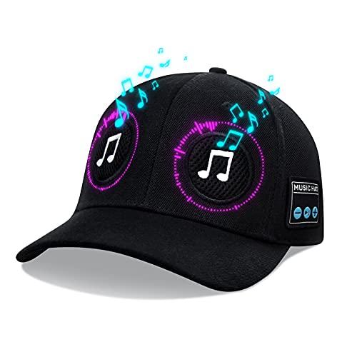 Hat/Cap with Bluetooth 5.0 Speaker and inbuilt Microphone Bluetooth Hat/Cap Wireless Smart Speaker Cap for Outdoor/Indoor Sports. The Best Gift for Men/Women/Boys/Girls