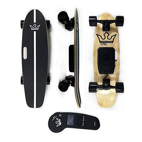 KYNG Electric Skateboard with Wireless LED Remote, 29' for Youth and Adults 15 MPH, 350W Motor, 10 Mile Range, Adjustable Speed and Braking, 7 Layer Maple Deck, 200lb Weight Load, Kids and Adult