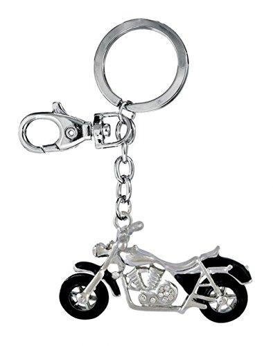Ten Schlüsselanhänger Motorrad schwarz cod.EL3099 cm 16x5,5x2,5h by Varotto & Co.