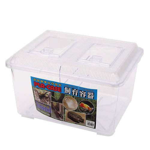 飼育容器 特大 仕切り付き クリア(幅43×奥行き34×高さ26cm) プラケース 虫かご 昆虫 メダカ ザリガニ 両生類