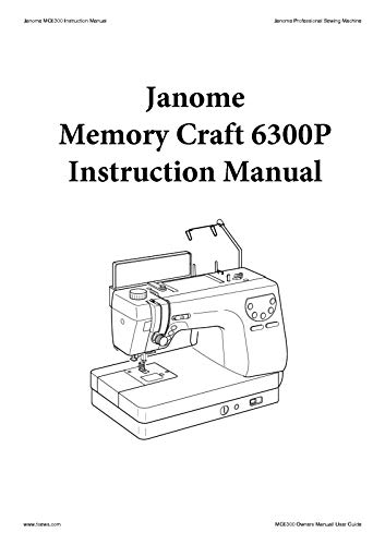Check Out This Janome Spare Part Memory Craft 6300p Sewing Machine Quilting Instruction Manual Repri...