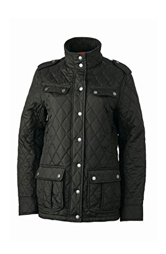 2Store24 Ladies' Diamond Quilted Jacket in Black Size: XL
