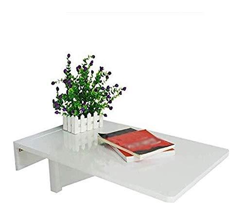 WSHFHDLC Mesa de café Mesas de extremo montado en la pared estante colgante mesa para el hogar cocina blanco plegable escritorio de computadora para niños o adolescentes pequeñas mesas de café