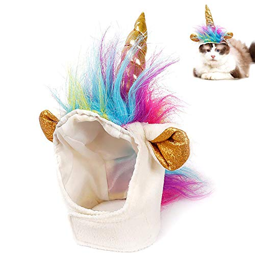 Ausein Pet Unicorn Hat for Cats