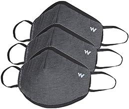 Wildcraft W95 Reusable Respirator Mask (Grey_Dark, Pack of 3)