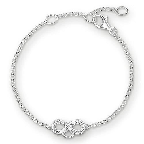 THOMAS SABO Damen Charm-Armband Infinity Charm-Armband 925er Sterlingsilber X0204-001-12
