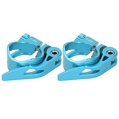 FOLOSAFENAR Abrazadera para tija de sillín de liberación rápida Abrazadera para tija de sillín, para Tubo de sillín de 31,8 mm(Blue)