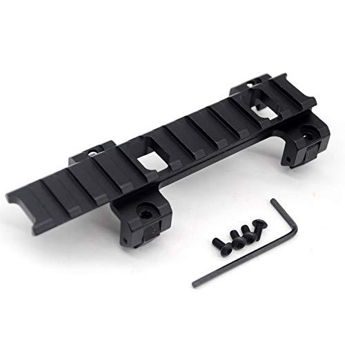 TRIROCK 20 mm Picatinny Weaver Schiene Erweiterung Scope Mount Adapter Klaue mit 11 Slots für MP5 GSG5 G3 Rail Bracket Clip