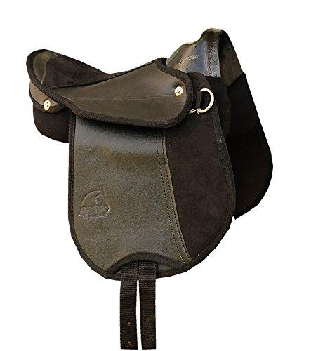 Caballo de montar caballo de silla de montar con asa, colour negro y también para madera caballo Kids montura de 25.4 cm