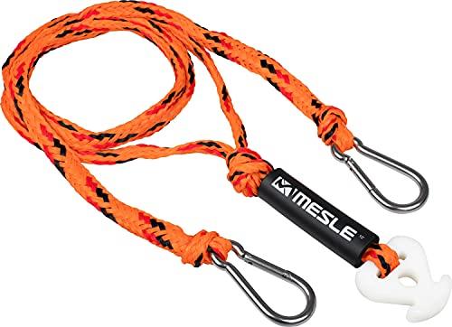 MESLE Schleppdreieck Pro DLX 4 Personen, Länge 366 cm, mit Schwimmer, Quick-Connect-Haken, gelb-schwarz, incl. Rope Keeper