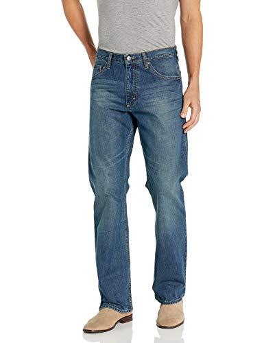Wrangler Authentics Men's Relaxed Fit Boot Cut Jean, Medium Indigo, 40x30