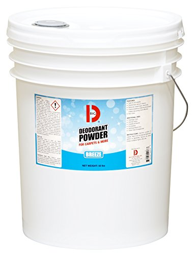 Big D 5176 Deodorant Powder for Carpets & More, Breeze Fragrance, 50 lb Container - Ideal for use on carpet, wood, textiles and trash dumpsters