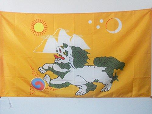 AZ FLAG Flagge Tibet 1920-1925 150x90cm - TIBETS Fahne 90 x 150 cm Scheide für Mast - flaggen Top Qualität