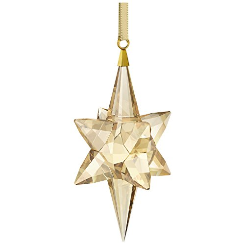 Swarovski Star Ornament, Gold-Tone, Large Figure, Crystal, Gold, 8.3 x 4.3 x 4.3 cm