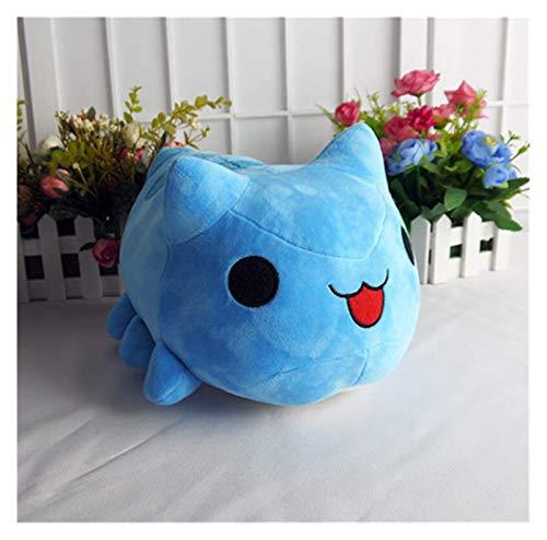CHENGCHAO Juguetes de Peluche Gato Toy Blue Cat Gusano Peluche Cosplay Muñeca Relleno Almohada 15 / 30cm para el Regalo Regalo (Color : Open Mouth, Height : 15cm)