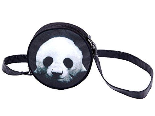 Alsino Rundtasche Umhängetasche Handtasche Schultertasche Abendtasche Outdoor Tasche, Variante wählen:HT-011 Panda