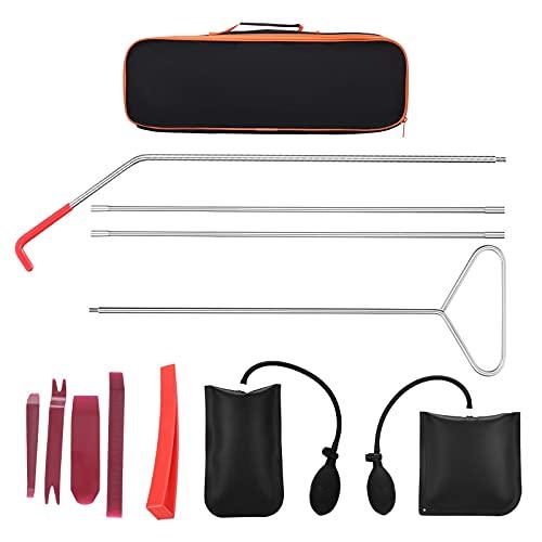 PaNt Kit de herramientas para coche de vehículos,herramienta de agarre de largo alcance fácil con bolsa de cuña de aire, sin cuña de rastro y herramienta de palanca para reparación de coches